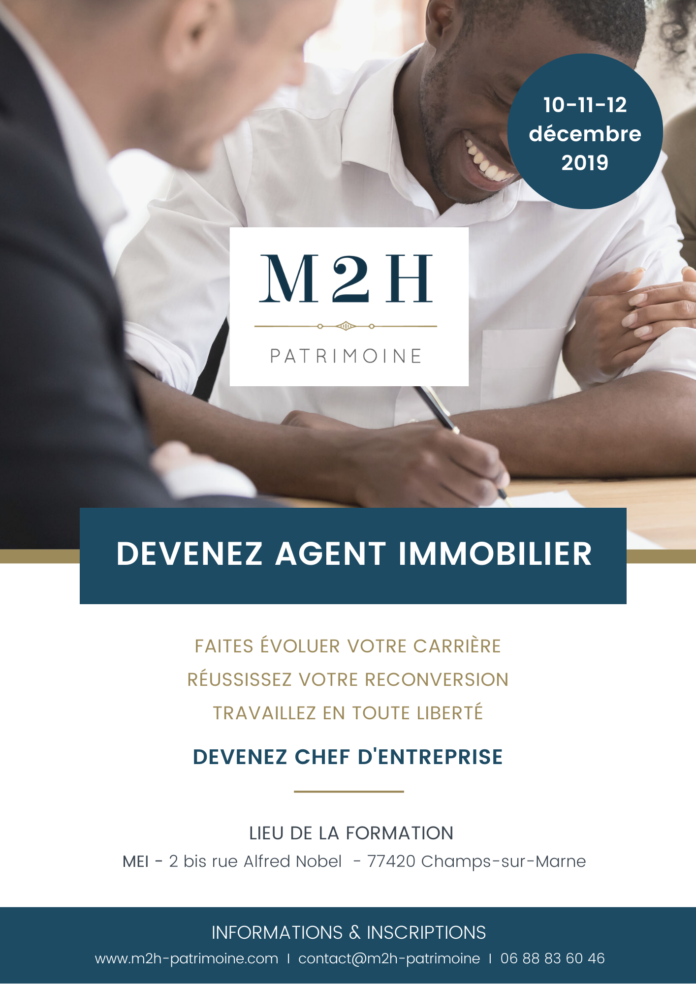 Flyer Formation Agent Immobilier - Champs sur Marne